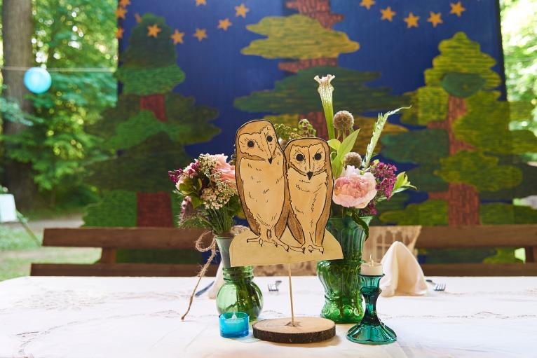 Barn Owl Watercolor Table Decor