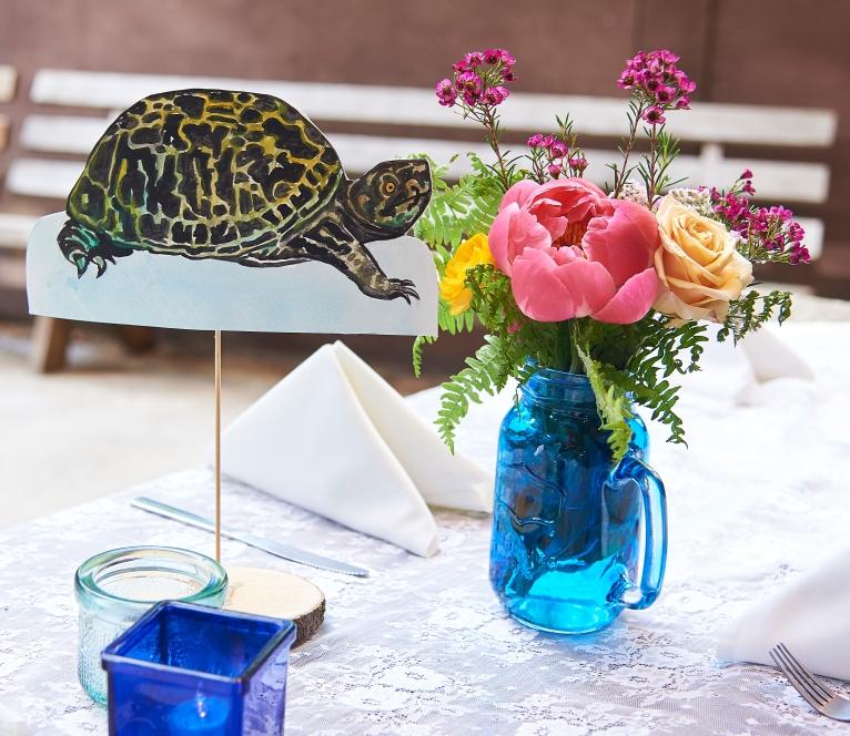 turtle table decor